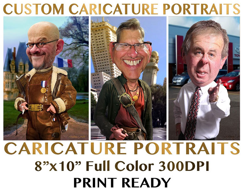 Custom Caricature Portraits