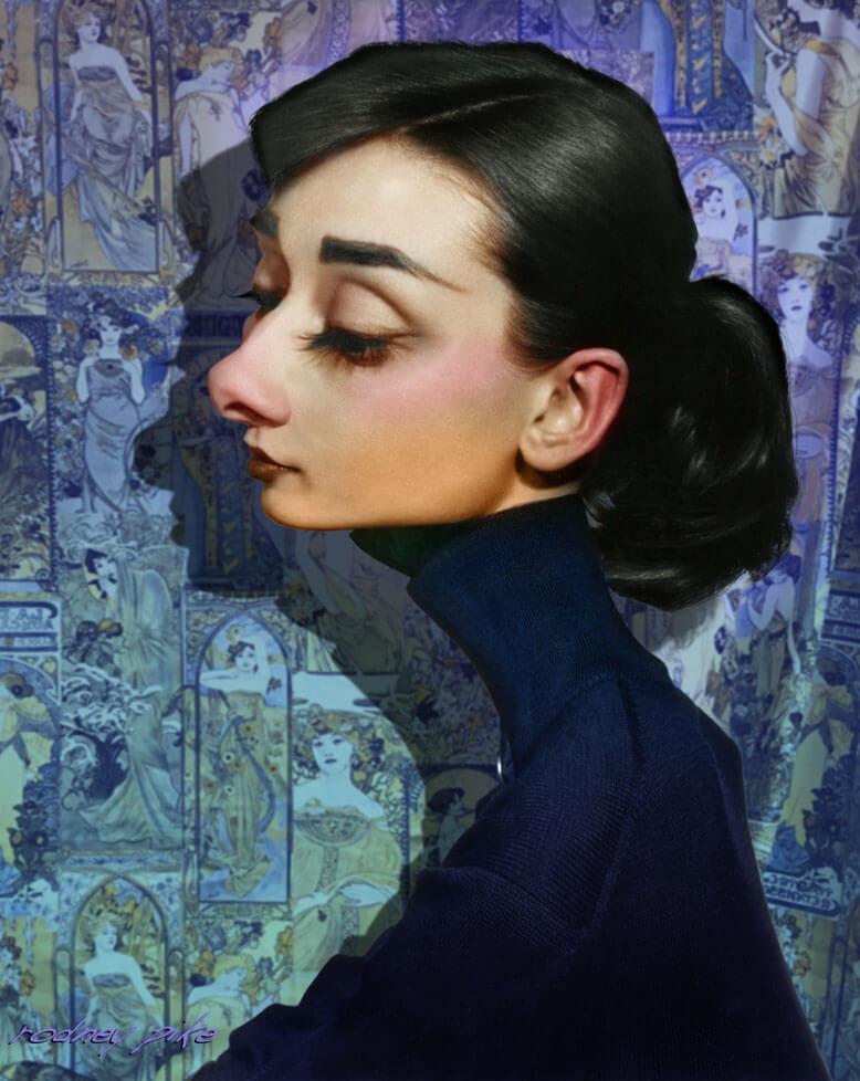 Audrey Hepburn Caricature