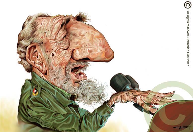 Fidel Castro Caricature by Sebastián Cast